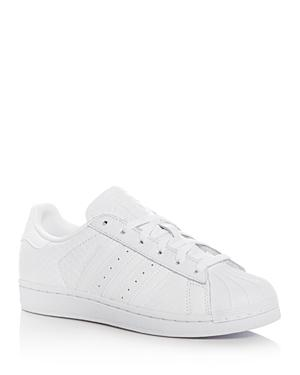 Adidas Women's Superstar Snake Embossed Lace Up Sneakers