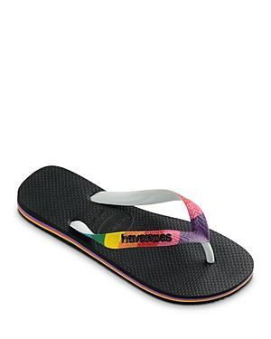 Havaianas Women's Top Pride Rainbow Strap Rubber Flip Flops
