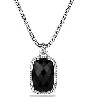 David Yurman Albion Pendant With Black Onyx And Diamonds