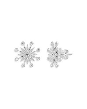Colette Jewelry 18k White Gold Galaxia Diamond Star Stud Earrings