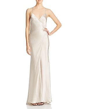 Abs By Allen Schwartz Shimmering Wrap Gown