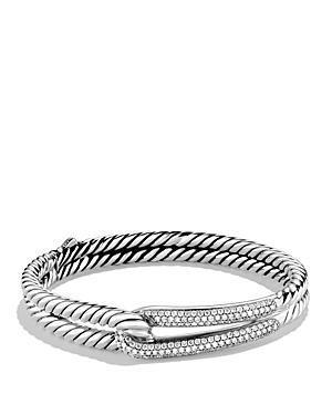 David Yurman Labyrinth Single-loop Bracelet With Diamonds
