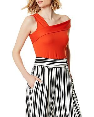 Karen Millen Asymmetric Off-the-shoulder Top