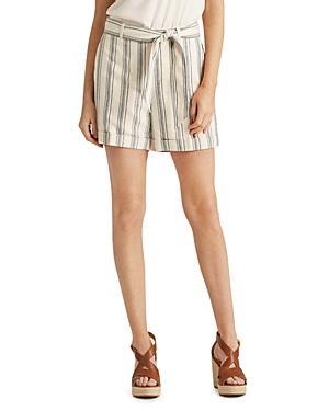 Lauren Ralph Lauren Striped Belted Shorts