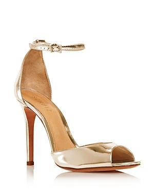 Schutz Women's Saasha Lee Leather Ankle Strap High-heel Sandals