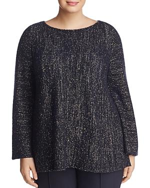 Lafayette 148 New York Plus Textured Bell-sleeve Sweater