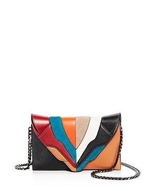Elena Ghisellini Selina Color Block Leather Clutch