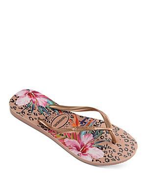 Havaianas Women's Slim Animal Floral-print Flip-flops