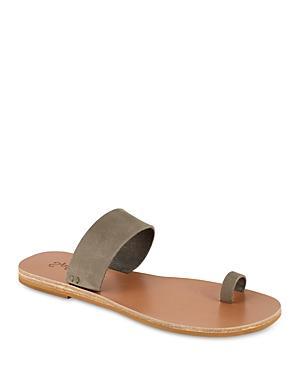 Splendid Women's Serenity Almond Toe Leather Slide Sandals