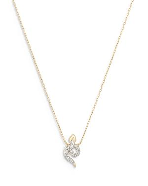 Adina Reyter 14k Yellow Gold Diamond Snake Pendant Necklace, 16