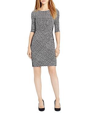 Lauren Ralph Lauren Houndstooth Print Dress