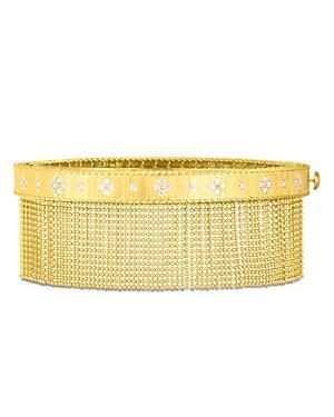 Roberto Coin 18k Yellow Gold Venetian Princess Diamond Tassel Bangle Bracelet
