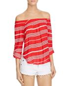 Faithfull The Brand Devin Off-the-shoulder Stripe Top