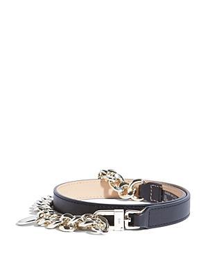 Karen Millen Chain Detail Leather Belt