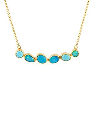 Gurhan 24k/22k/18k Yellow Gold Opal & Turquoise Statement Necklace