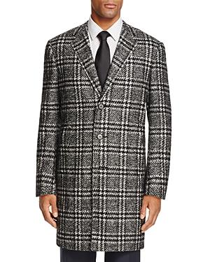 Canali Exploded Plaid Coat