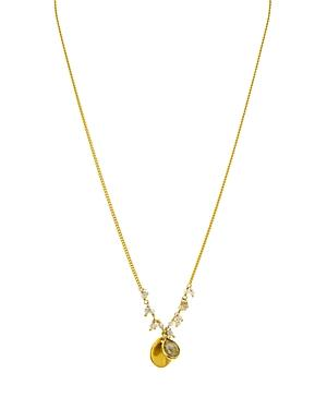 Chan Luu Mystic Labradorite & Labradorite Pendant Necklace In 18k Gold-plated Sterling Silver, 16
