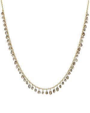 Gurhan 24k/22k/18k Yellow Gold & Platinum Champagne Diamond Dangle Statement Necklace, 16-18