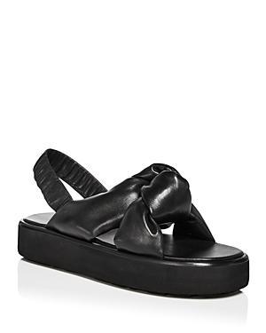 Miu Miu Women's Calzature Donna Slingback Knotted Sandals