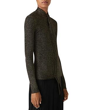 St. John Knits Superfine Shimmer Ribbed Sweater