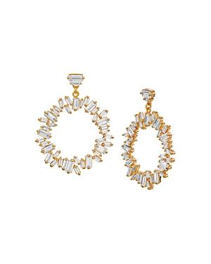 Gorjana Amara Cluster Drop Hoop Earrings