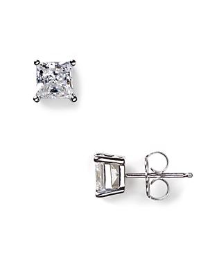 Crislu Faceted Princess-cut Stud Earrings, 1.5 Ct. T.w.
