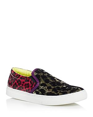 Marc Jacobs Mercer Leopard-print Embellished Slip On Sneakers