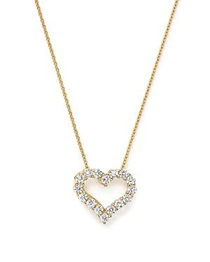 Diamond Heart Pendant Necklace In 14k Yellow Gold, .25 Ct. T.w. - 100% Exclusive