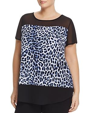 Vince Camuto Plus Short-sleeve Sahara Tracks Top
