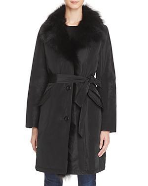 Maximilian Furs Fox Fur Collar Down Coat - Bloomingdale's Exclusive