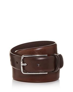 Boss Hugo Boss Men's Jor Woven Print Leather Belt