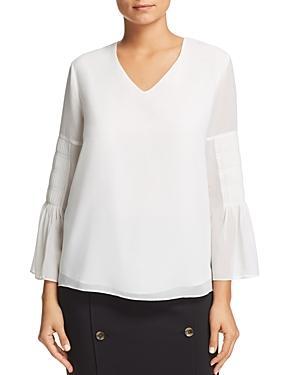 Calvin Klein Pintuck-sleeve Top