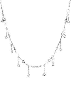 Aqua Droplet Necklace In Platinum-plated Sterling Silver Or 18k Rose Gold-plated Sterling Silver, 14 - 100% Exclusive