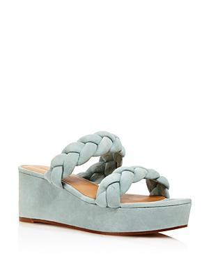 Rebecca Minkoff Women's Imani Braided Suede Platform Slide Sandals - 100% Exclusive