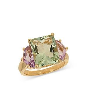 Bloomingdale's Prasiolite & Rose Amethyst Ring In 14k Yellow Gold - 100% Exclusive
