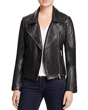 Bb Dakota Heely Leather Moto Jacket