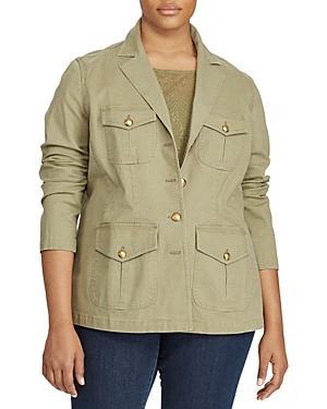 Lauren Ralph Lauren Plus Canvas Utility Jacket