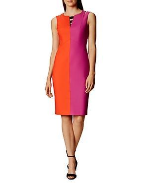 Karen Millen Color-blocked Pencil Dress