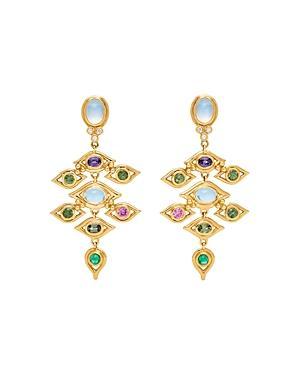 Temple St. Clair 18k Yellow Gold Campo De' Fiori Multi-gemstone & Diamond Drop Earrings