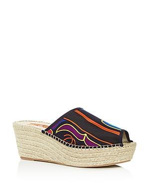 Respoke Women's Salma Platform Wedge Espadrille Slide Sandals