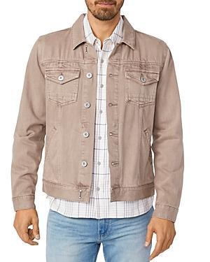 Paige Scout Cotton Blend Solid Regular Fit Jacket