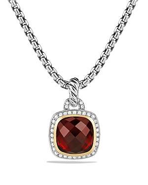 David Yurman Pendant With Garnet And Diamonds With 18k Gold