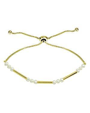 Aqua Cultured Freshwater Pearl & Bar Slider Bracelet - 100% Exclusive