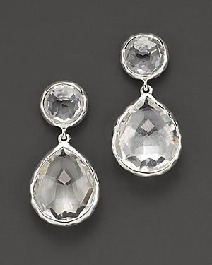 Ippolita Sterling Silver Rock Candy Snowman Drop Earrings In Clear Quartz