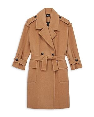 The Kooples Belted Batwing Sleeve Coat