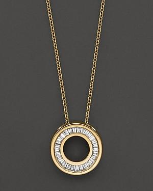 Diamond Circle Pendant Necklace In 14k Yellow Gold, 0.20 Ct. T.w.
