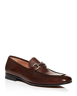 Salvatore Ferragamo Men's Steve Gancini Leather Apron-toe Loafers