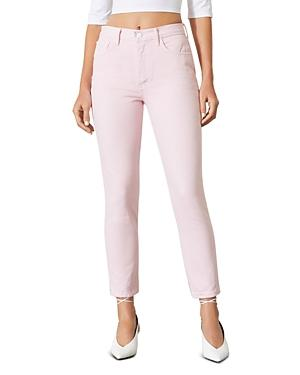 Grlfrnd Karolina Cotton Skinny Jeans In Pink Lemonade
