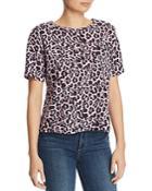 Lna Leopard-print Boxy Tee