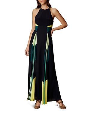 Karen Millen Pleated Panel Maxi Dress